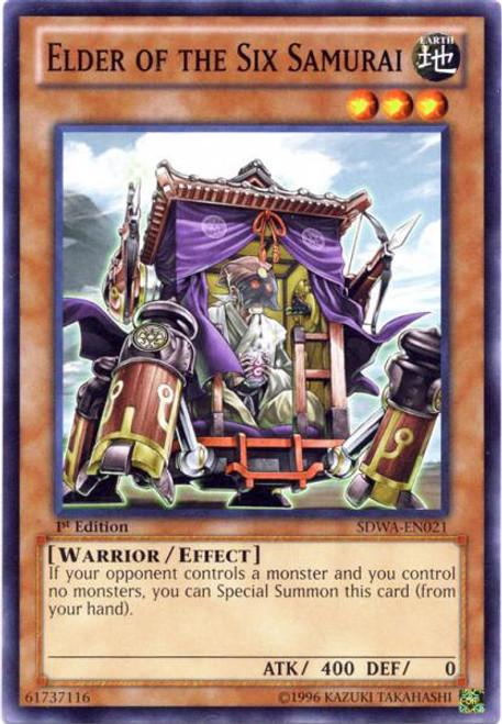 YuGiOh Zexal Samurai Warlords Structure Deck Common Elder of the Six Samurai SDWA-EN021