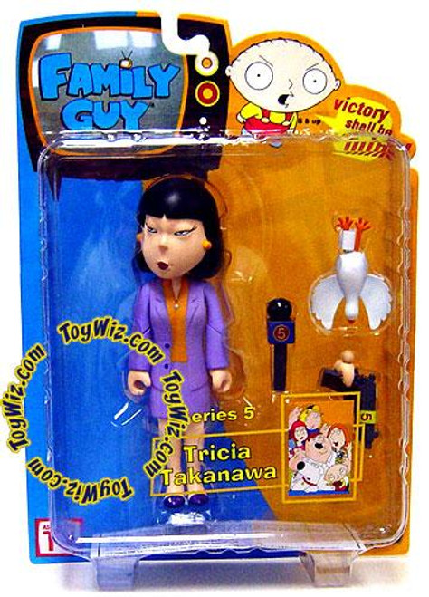 Family Guy Series 5 Tricia Takanawa Action Figure [Purple Suit]