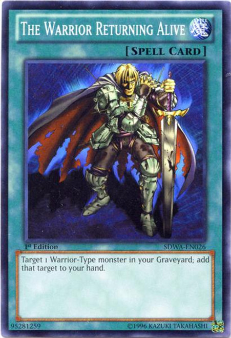 YuGiOh Zexal Samurai Warlords Structure Deck Common The Warrior Returning Alive SDWA-EN026