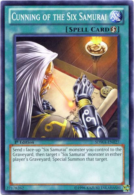YuGiOh Zexal Samurai Warlords Structure Deck Common Cunning of the Six Samurai SDWA-EN027