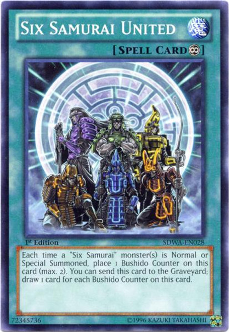 YuGiOh Zexal Samurai Warlords Structure Deck Common Six Samurai United SDWA-EN028