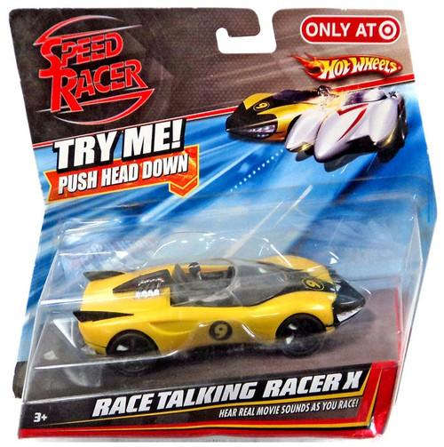 Speed Racer Hot Wheels Race Talking Racer X Exclusive Diecast Vehicle