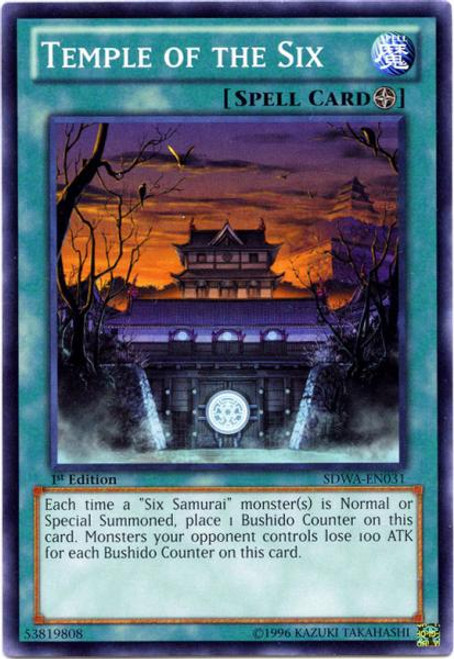 YuGiOh Zexal Samurai Warlords Structure Deck Common Temple of the Six SDWA-EN031