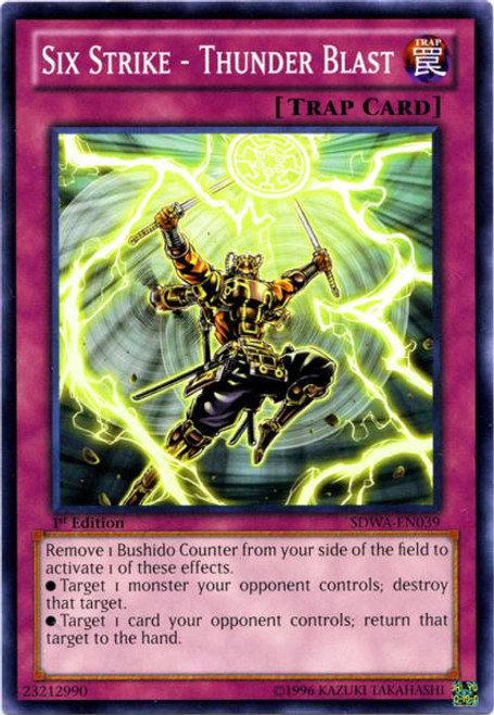 YuGiOh Zexal Samurai Warlords Structure Deck Common Six Strike - Thunder Blast SDWA-EN039