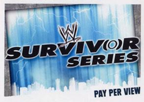 WWE Wrestling Slam Attax Evolution Series 1 Pay Per View Base Card Survivor Series