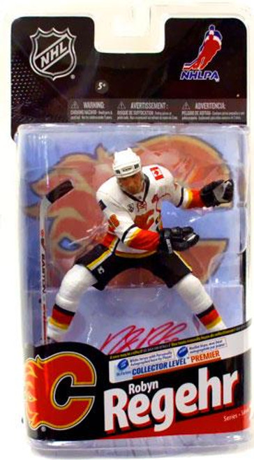 McFarlane Toys NHL Calgary Flames Sports Picks Series 24 Robyn Regehr Action Figure [White Jersey with Signature]