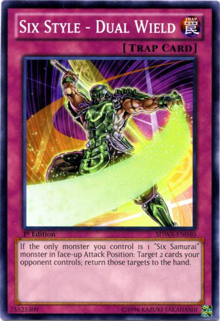 YuGiOh Zexal Samurai Warlords Structure Deck Common Six Style - Dual Wield SDWA-EN040