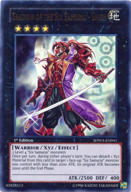 YuGiOh Zexal Samurai Warlords Structure Deck Ultra Rare Shadow of the Six Samurai - Shien SDWA-EN041