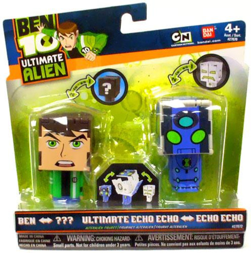Ben 10 Ultimate Alien Transforming Figures Ben to Rath & Ultimate Echo Echo to Echo Echo 2.5-Inch Figure 2-Pack