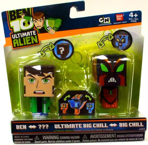 Ben 10 Ultimate Alien Transforming Ben to NRG & Big Chill to Ultimate Big Chill 2.5-Inch Figures