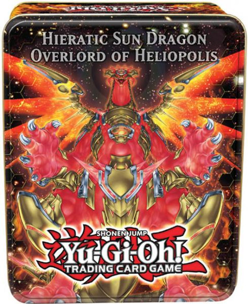 YuGiOh 2012 Collector Tin Hieratic Sun Dragon Overlord of Heliopolis Collector Tin [Sealed]
