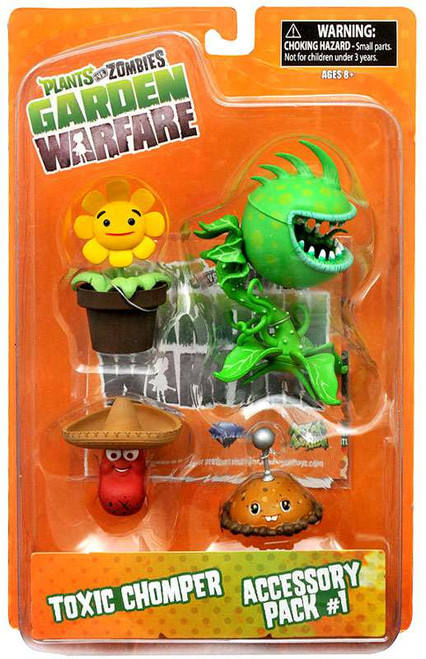 Plants Vs Zombies Garden Warfare Series 2 Toxic Chomper Accessory Pack 1 5 Action Figure 2 Pack