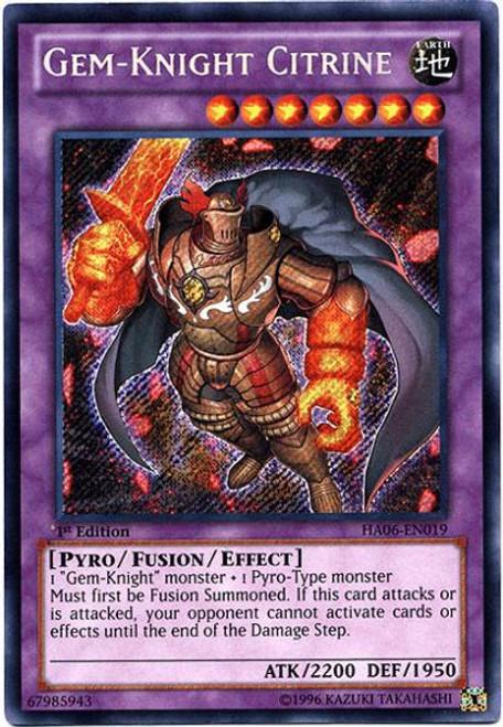 YuGiOh Zexal Hidden Arsenal 6: Omega XYZ Secret Rare Gem-Knight Citrine HA06-EN019