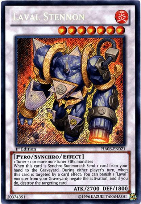 YuGiOh Zexal Hidden Arsenal 6: Omega XYZ Secret Rare Laval Stennon HA06-EN021