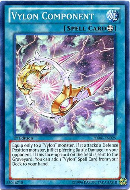 YuGiOh Zexal Hidden Arsenal 6: Omega XYZ Super Rare Vylon Component HA06-EN025