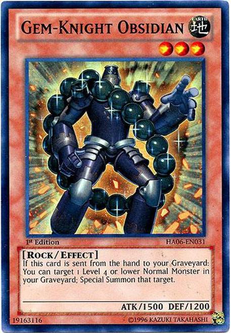 YuGiOh Zexal Hidden Arsenal 6: Omega XYZ Super Rare Gem-Knight Obsidian HA06-EN031