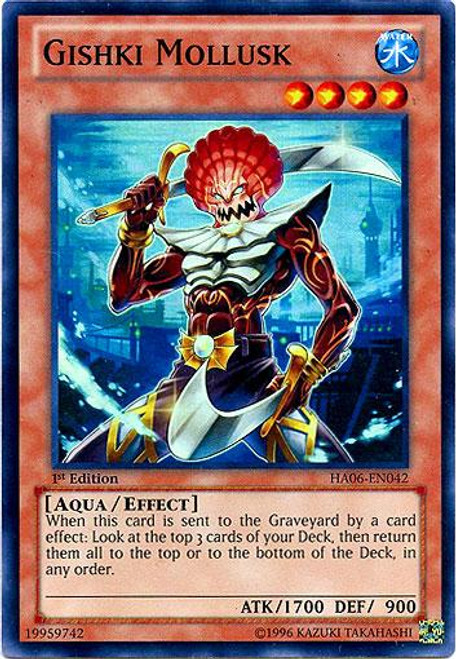 YuGiOh Zexal Hidden Arsenal 6: Omega XYZ Super Rare Gishki Mollusk HA06-EN042