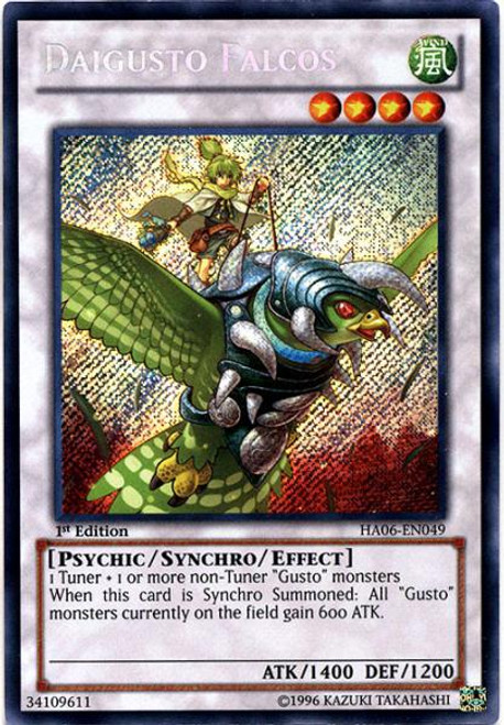 YuGiOh Zexal Hidden Arsenal 6: Omega XYZ Secret Rare Daigusto Falcos HA06-EN049