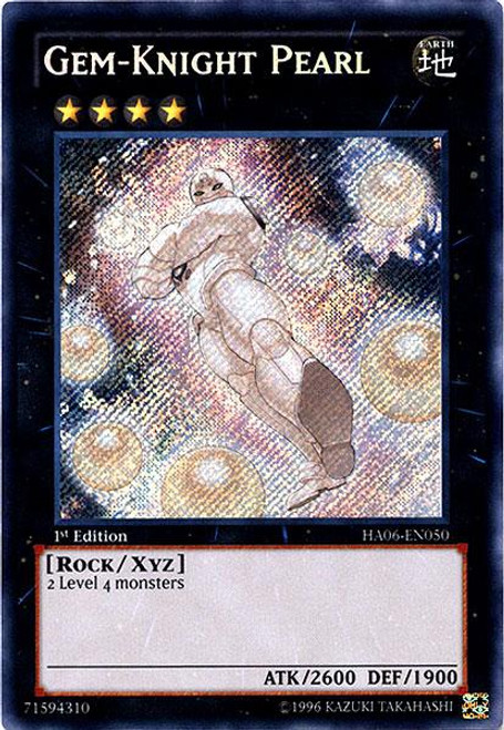 YuGiOh Zexal Hidden Arsenal 6: Omega XYZ Secret Rare Gem-Knight Pearl HA06-EN050