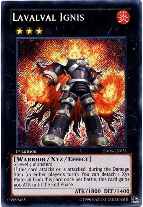 YuGiOh Zexal Hidden Arsenal 6: Omega XYZ Secret Rare Lavalval Ignis HA06-EN051