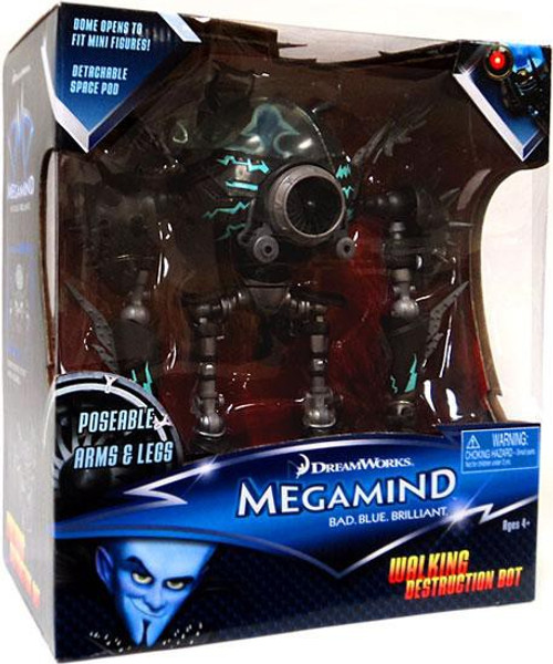 Megamind Walking Destruction Bot Action Figure [Poseable Arms & Legs]