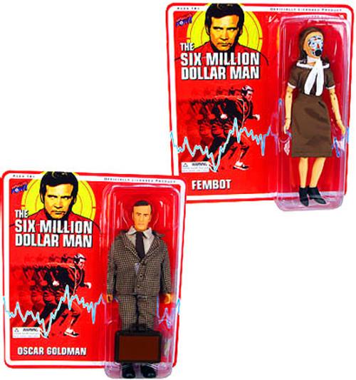 The Six Million Dollar Man Oscar Goldman & Fembot Action Figures
