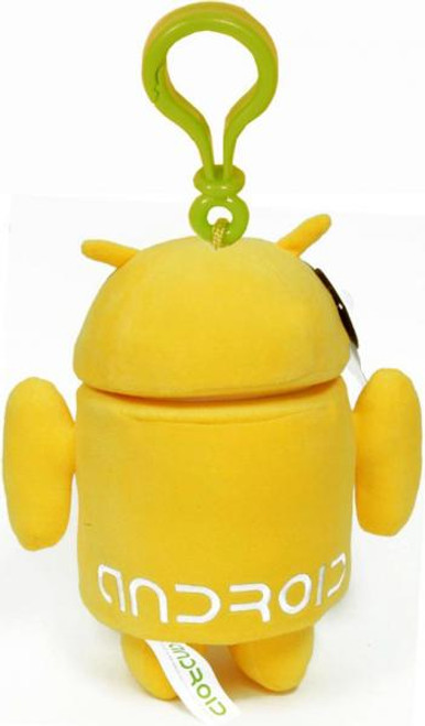 Android Yellow Guy Plush Backpack Clip
