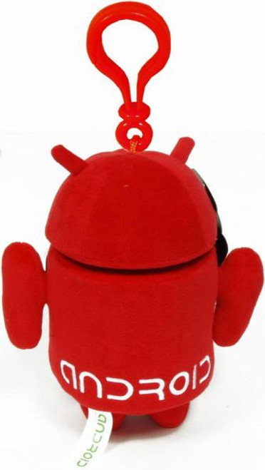 Android Red Guy Plush Backpack Clip