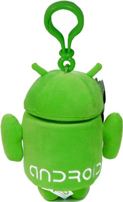 Android Green Guy Plush Backpack Clip