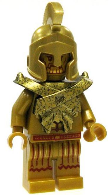 LEGO Atlantis Loose Gold Temple Poseidon Minifigure [Loose]