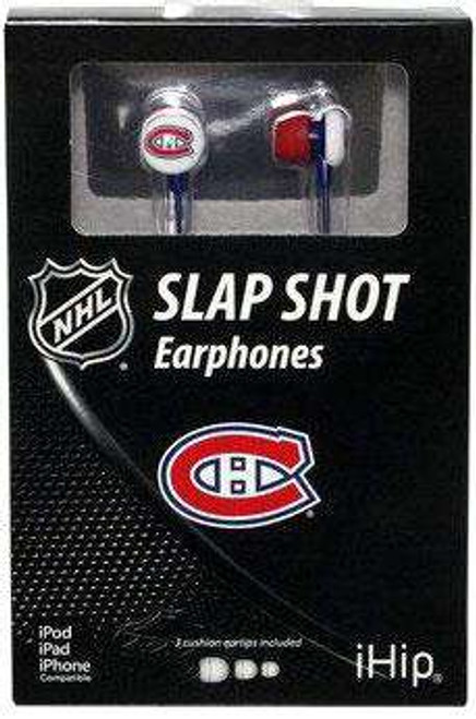 NFL Slap Shot Earphones Montreal Canadiens Earbuds