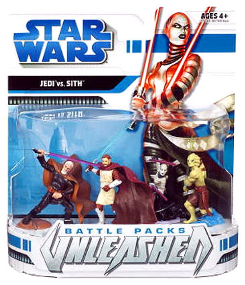 Star Wars The Clone Wars Unleashed Battle Packs 2008 Jedi vs. Sith Action Figure 4-Pack