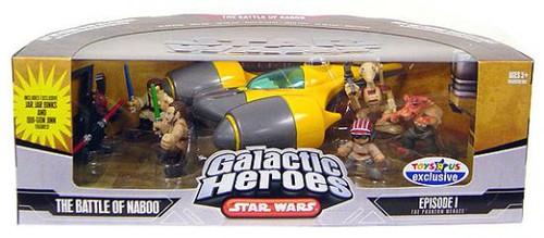 Star Wars The Phantom Menace Galactic Heroes Cinema Scenes The Battle of Naboo Exclusive Mini Figure Set