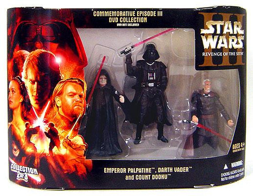 Star Wars Revenge of the Sith DVD Collections Commemorative Episode III DVD Collection Action Figure Set #2 of 3 [Sith]