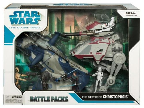 Star Wars The Clone Wars Battle Packs 2008 Battle of Christophsis Exclusive Action Figure Set