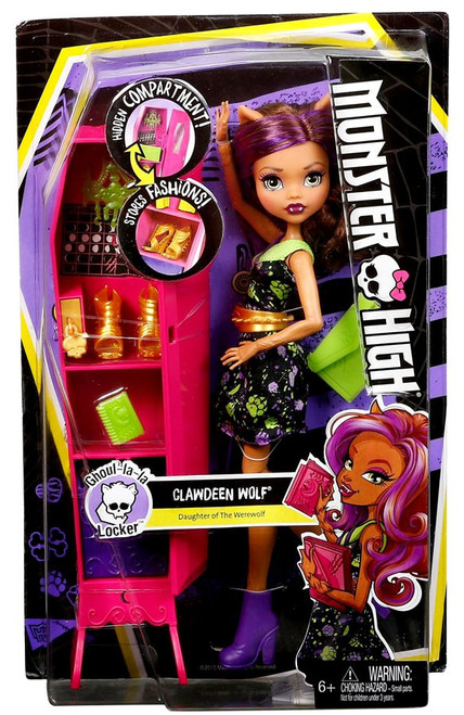 Monster High Ghoul La La Locker Clawdeen Wolf Doll Mattel