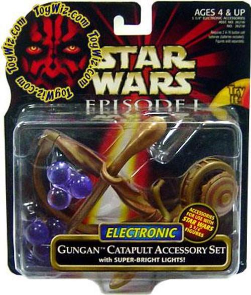 Star Wars The Phantom Menace Episode I Basic 1999 Gungan Catapult Accessory Set Action Figure