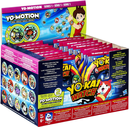 Yo kai watch yo motion series 1 mystery box 24 packs for Decoration yo kai watch