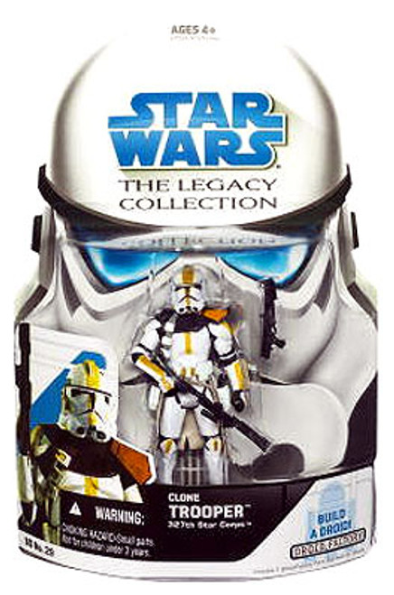 Star Wars The Clone Wars Legacy Collection 2008 Droid Factory Clone Trooper Action Figure BD29 [327th Star Corps]