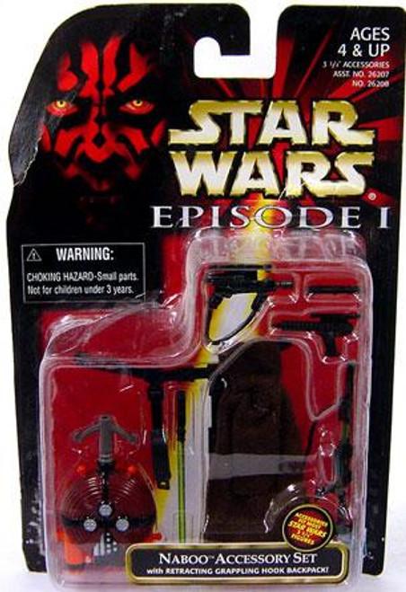 Star Wars The Phantom Menace Episode I Basic 1999 Naboo Accessory Set Action Figure Accessory [Damaged Package]
