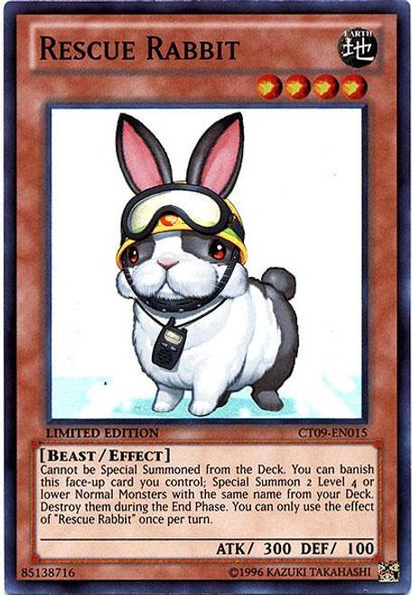 YuGiOh Holiday Tin Promo Super Rare Rescue Rabbit CT09-EN015
