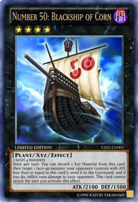 YuGiOh Shonen Jump Ultra Rare Number 50: Blackship of Corn YZ02-EN001