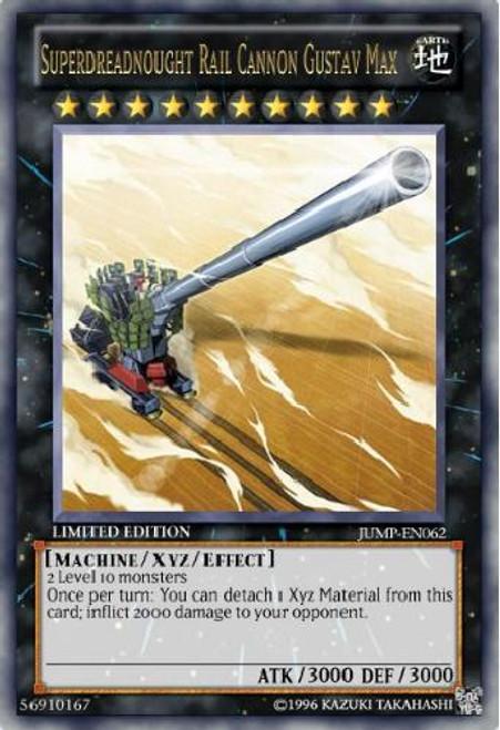 YuGiOh Shonen Jump Ultra Rare Superdreadnought Rail Cannon Gustav Max JUMP-EN062