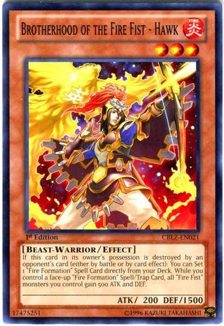 YuGiOh Zexal Cosmo Blazer Common Brotherhood of the Fire Fist - Hawk CBLZ-EN021
