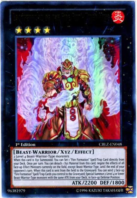 YuGiOh Zexal Cosmo Blazer Ultra Rare Brotherhood of the Fire Fist - Tiger King CBLZ-EN048