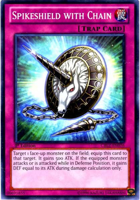 YuGiOh Zexal Cosmo Blazer Common Spikeshield with Chain CBLZ-EN076