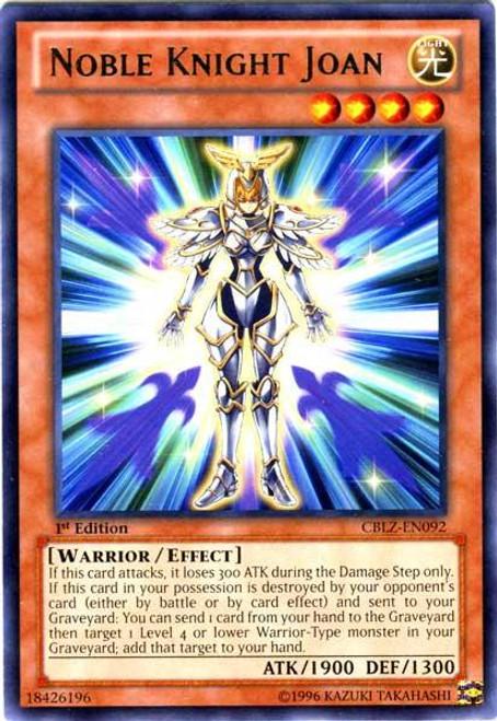 YuGiOh Zexal Cosmo Blazer Rare Noble Knight Joan CBLZ-EN092