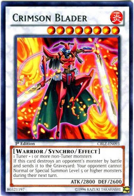 YuGiOh Zexal Cosmo Blazer Rare Crimson Blader CBLZ-EN093