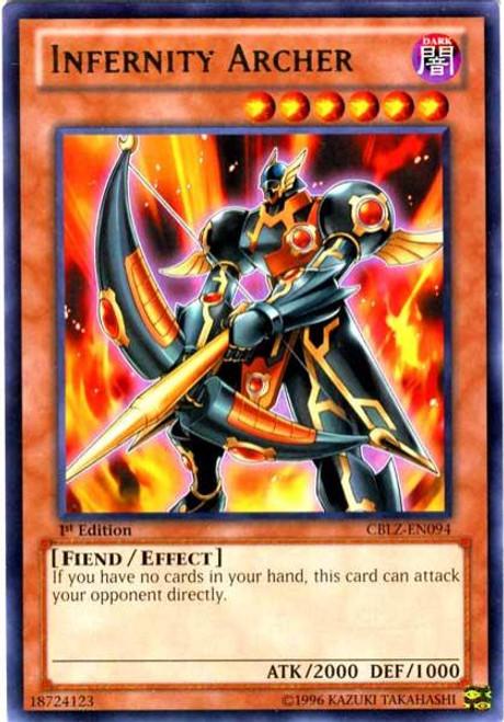 YuGiOh Zexal Cosmo Blazer Rare Infernity Archer CBLZ-EN094