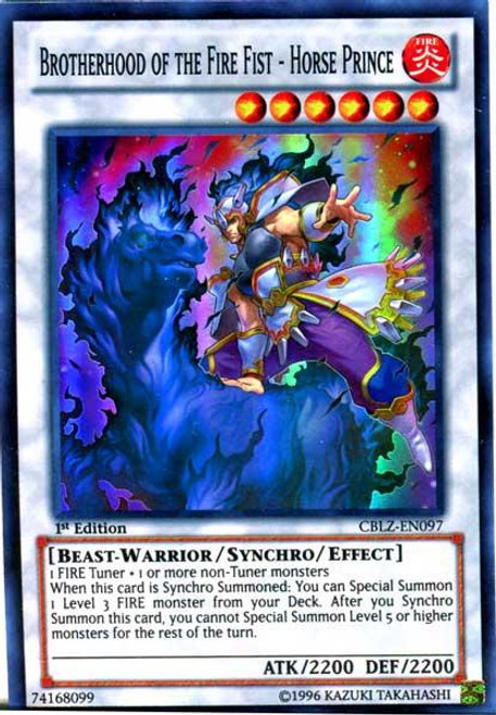 YuGiOh Zexal Cosmo Blazer Super Rare Brotherhood of the Fire Fist - Horse Prince CBLZ-EN097
